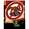No Fox Sign-icon