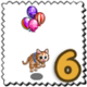 Floating Balloon Cat Stamp-icon