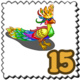 Queenly Peacock Stamp-icon