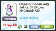 Dancin SnowLady Market Info