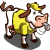 Yellow Referee Cow-icon
