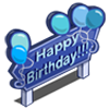 Blue B-Day Sign-icon