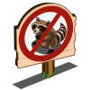 No Raccoon Sign-icon
