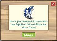 Sapphire Unicorn Redeemed
