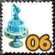 Arabic Pot Fountain Stamp-icon