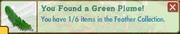 Green plume-popup