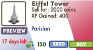 Eiffel Tower Market Info