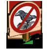 No Crows Sign-icon