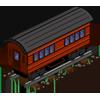 Red Passenger Car-icon