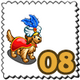 Arabian Caped Dog Stamp-icon