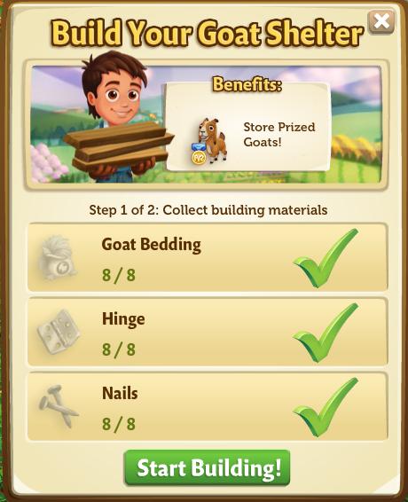 Goat Shelter building phase 1