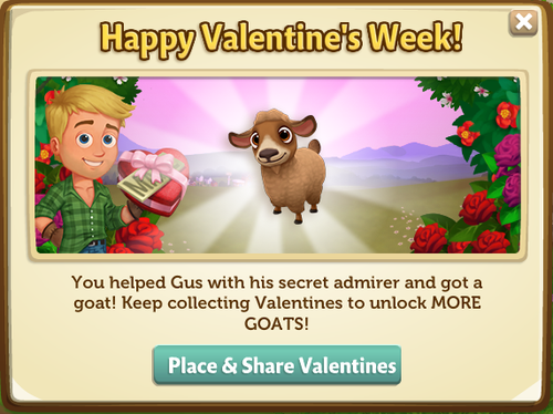 Caramel Pygora Goat reward from Valentine
