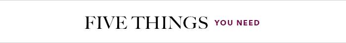 Fashion fivethings
