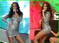 Rihanna in a Sequin Dress
