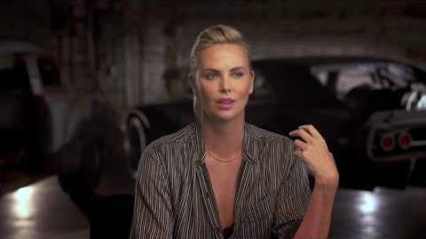"The Fate of the Furious Charlize Theron ""Cipher"" Behind the Scenes Movie Interview"