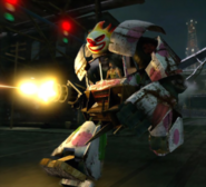 Twisted Metal - The Sweet Tooth Vehicle transformed into Sweet Bot as seen in the 2012 version of Twisted Metal