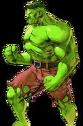 Marvel Comics - The Hulk as seen in Marvel VS Capcom 2