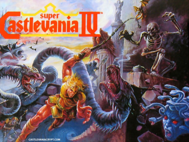 File:Castlevania - Simon Belmont fighting The Creatures of the Night as seen in Super Castlevania IV (US Version).png