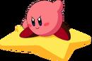 Kirby - Kirby riding on his Warp Star
