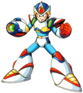 Mega Man X - Mega Man X wearing his Second Armor