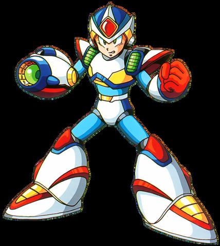 File:Mega Man X - Mega Man X wearing his Second Armor.png