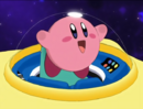 Kirby - Kirby in his space ship before crashlanding onto Popstar