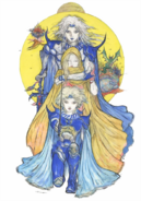 Final Fantasy IV - Cecil, Rosa, & Ceodore as seen in Final Fantasy IV The After Years by Yoshitaka Aman