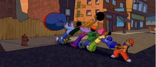 File:The Gang Trying To Pull Fat Albert Out.jpg