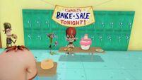 Kyle, Chuggy and Duke at bake sale