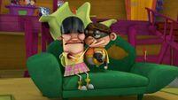 Hugging chum chum