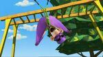 Fangboy falling off the monkey bars