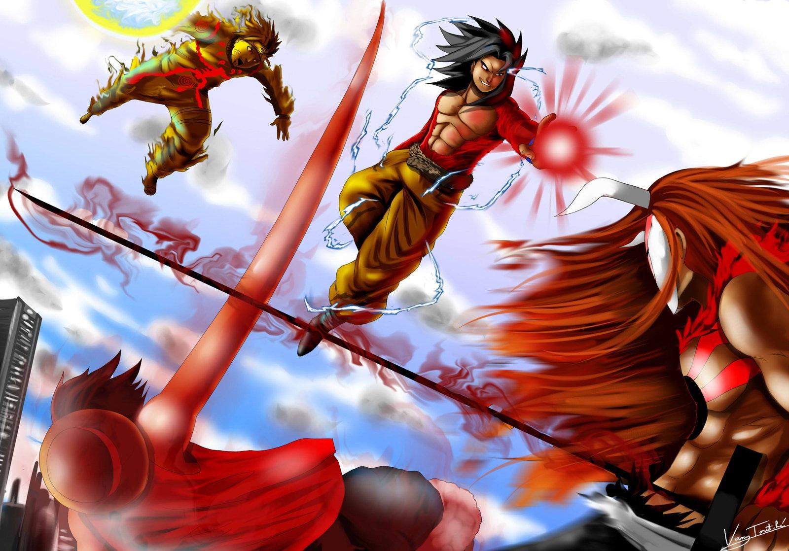 Image - Goku-vs-naruto-luffy-ichigo.jpg | FC/OC Vs Battles ...