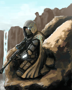 Speed painting future sniper by fonteart-d5qus2x