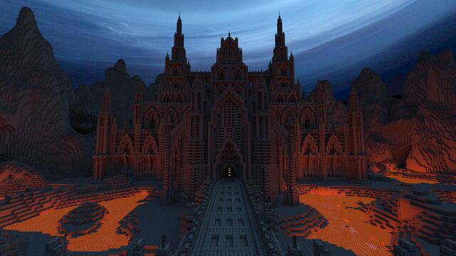 File:Dark Gothic Minecraft Castle.jpg