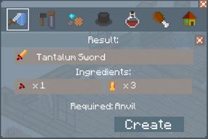 Tantalum Sword Crafting