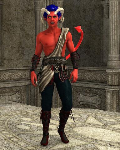 File:Vor'drek Nisharra - Tiefling (half devil) Monk PRINT.jpg
