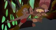 Batty scaring a fairy