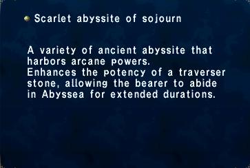 Scarlet abyssite of sojourn
