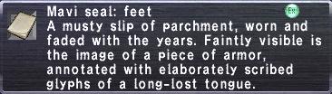 Mavi seal feet
