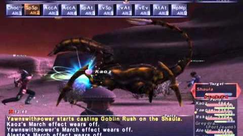 FFXI NM Saga 338 Shaula NM Full Battle