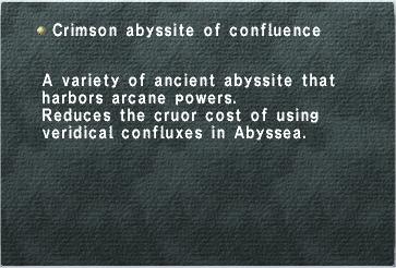 Crimson Abyssite of Confluence