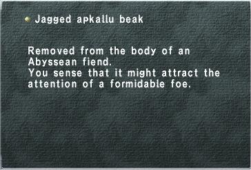Jagged Apkallu Beak