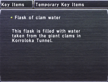 Flask of Clam Water