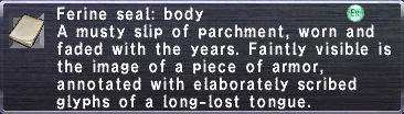 Ferine Seal Body
