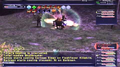 FFXI NM Saga 342 Fleshflayer Killakriq NM Full Battle