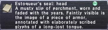 Estoqueur's Seal Head