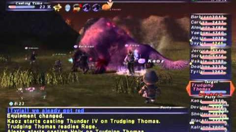 FFXI NM Saga 334 Trudging Thomas NM Full Battle