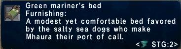 Green mariner's bed