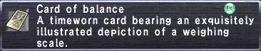 Card of Balance