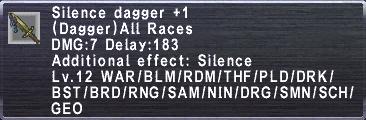 Silence Dagger Plus 1
